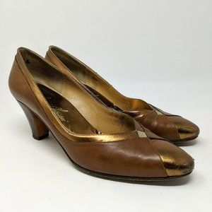 Vintage Rinaldo Ferrari Leather Pumps Heels